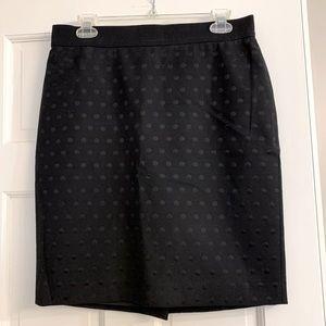 ⭐️FINAL SALE⭐️Black Polka Dot Pencil Skirt